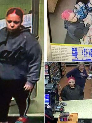 Surveillance footage allegedly shows Aireal Simpkins in a convenience store.