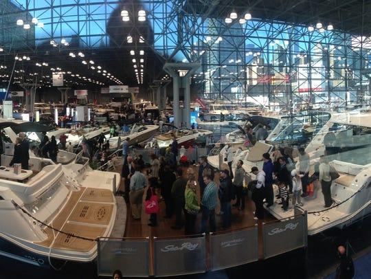 The Progressive Insurance New York Boat Show, pictured