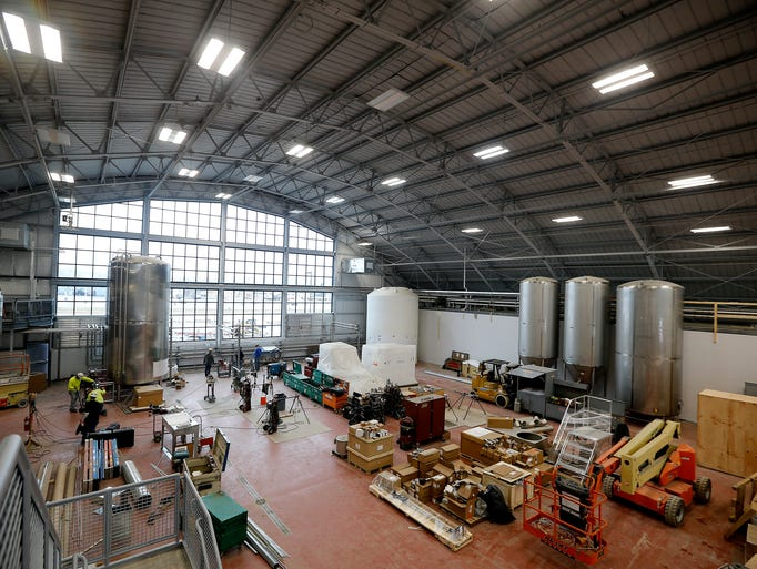 The brew house at MadTree's new brewery, 3301 Madison