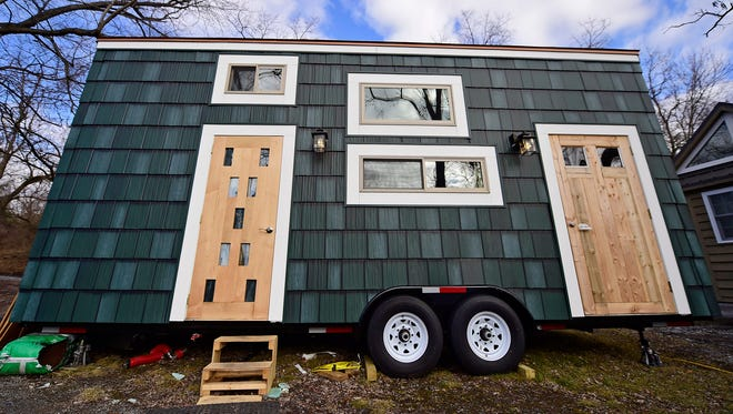 The inside of Cody Makarevitz's tiny home in Mt. Joy Township in Lancaster County on Wednesday, January 24, 2018. Makarevitz's home is part of Tiny Estates, a community of tiny houses that is opening this year on the same property where Ridge Run campground used to be located. Eventually, Tiny Estates CEO Abby Hobson wants to have 100 tiny homes on the property. Zoning laws prohibit individuals from staying more than about 6 months in the homes.