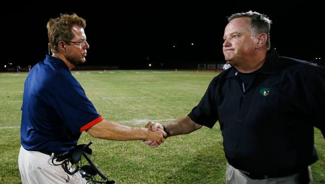 Bernie Busken (right) hopes to make his new team, Phoenix North, a little better this season.