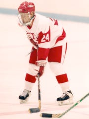 Travis Roy on the ice right before his accident October1995