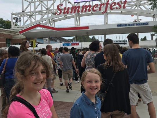 Crowds aren't too bad if you arrive early at Summerfest.