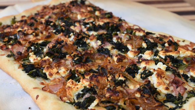 Mediterranean Pizza captures the flavors of Italy and Greece.