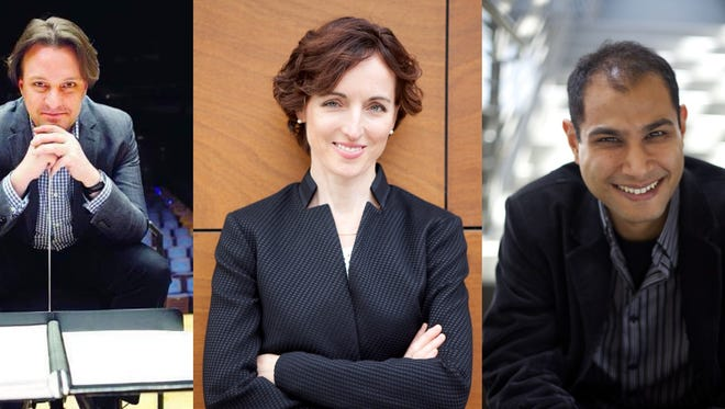 Kynan Johns, from left, Tania Miller and Fawzi Haimor are the finalists in the New West Symphony's search for a new music director.