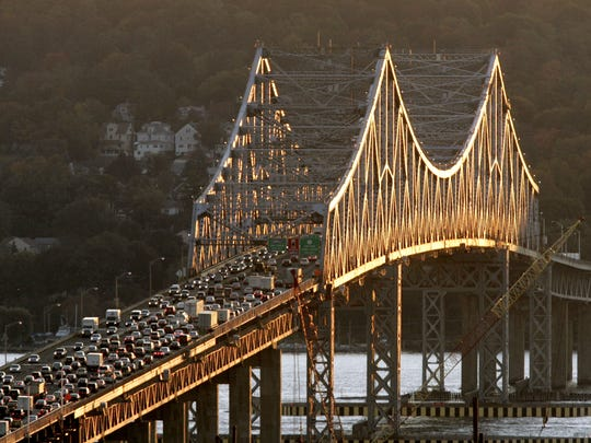Traffic moves Westchester County-bound on the Tappan Zee Bridge in an Oct. 23, 2008, Journal News file photo.