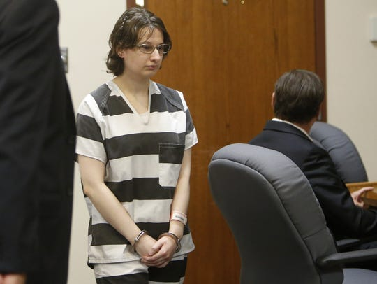 Gypsy Blanchard enters the courtroom for a pre-trial
