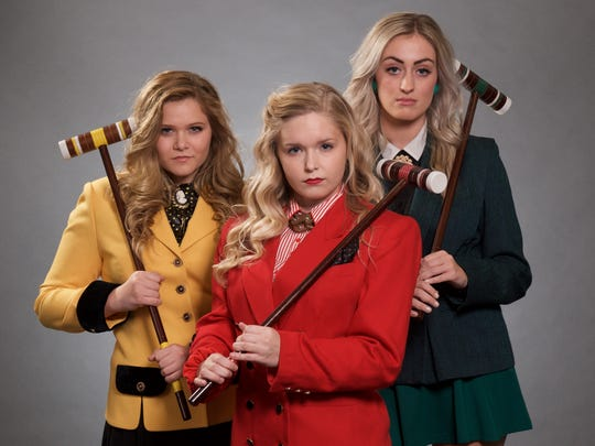 """Stray Cat Theatre's """"Heathers: The Musical"""" stars (from left) Elyssa Blonder, Sara Sanderson and Taylor Moskowitz."""