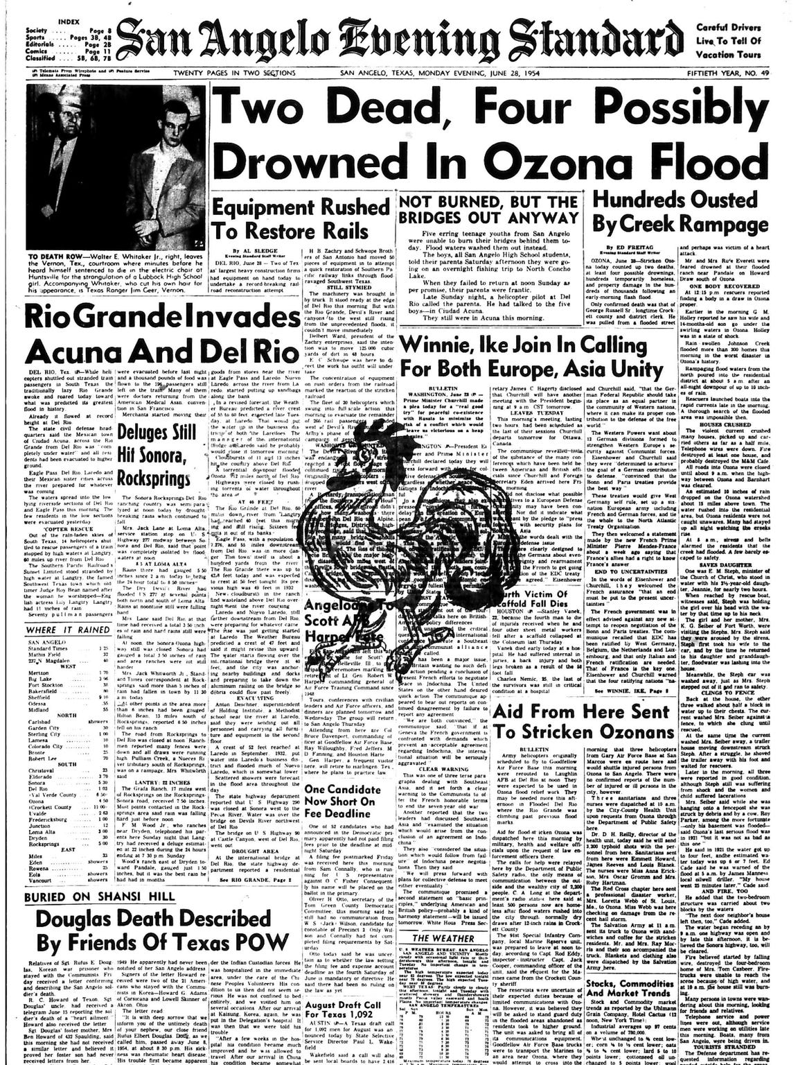 Front page June 1954.
