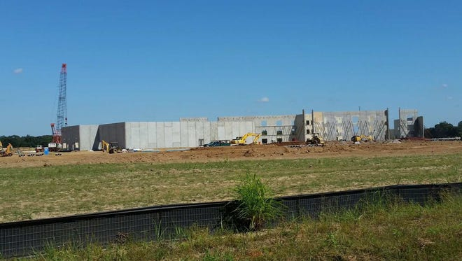 This recent photo from a construction consultant shows the progress at Southside High School in Youngsville.