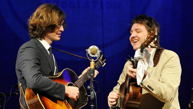 Milk Carton Kids perform at the Americana Music Award Nominee Announcement at the Country Music Hall of Fame's Ford Theater.  Thursday May 14, 2015, in Nashville, TN