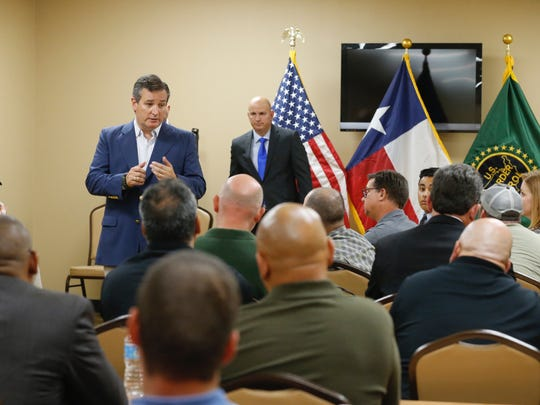 U.S. Sen. Ted Cruz, R-Texas, holds a town hall meeting Thursday with more than 50 agents in a Border Patrol union hall at 730 E. Yandell Drive near Downtown.