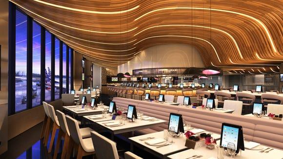 A rendering of a restaurant planned for Philadelphia's