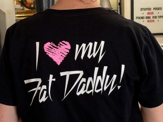 Popular women's Fat Daddy T-shirt.