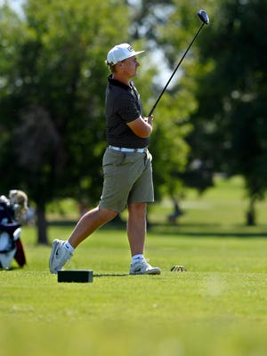 Former Billings West standout Joey Moore leads the Montana State Men's Amateur Golf Tournament by one stroke over Ryggs Johnston of Libby after Thursday's first round at Meadow Lark Country Club.