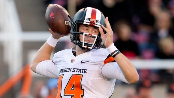 Oregon State quarterback Nick Mitchell passed for 204 yards in last week's loss at No. 13 Utah.