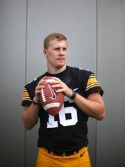 Iowa junior quarterback C.J. Beathard poses for a photo