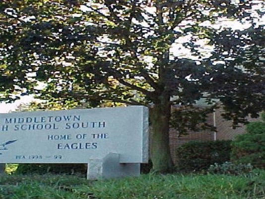 Middletown High School South sign