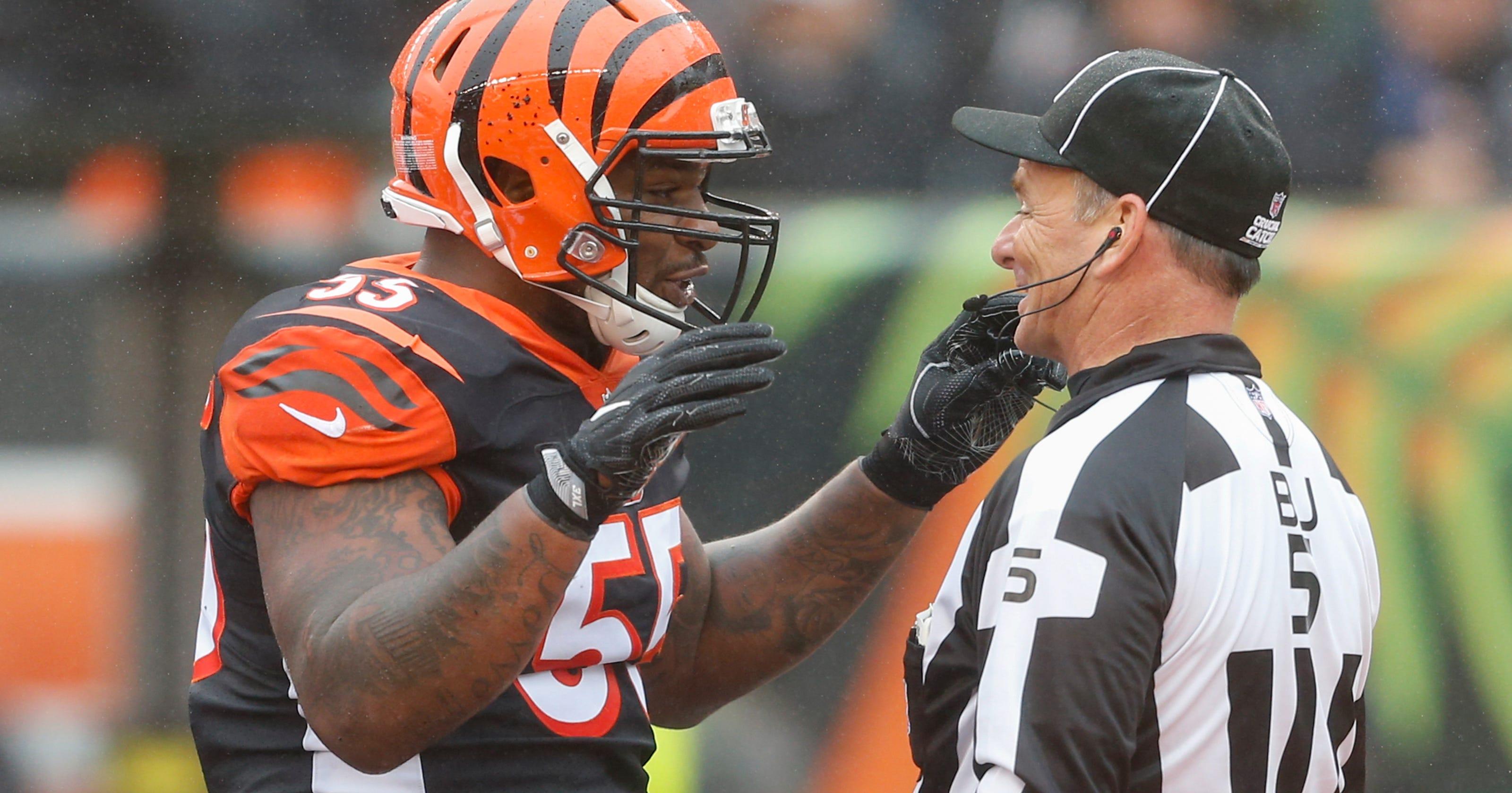 buy popular e572d 09954 NFL fines Bengals LB Vontaze Burfict for hits against Steelers