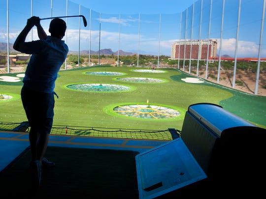 The Topgolf location in Scottsdale, Arizona, adjacent to the Talking Stick Resort. Photo by The Arizona Republic