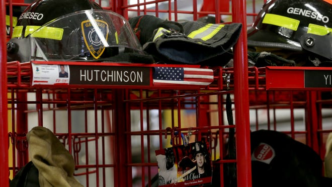 "Matthew Hutchinson's gear at the Geneseo Fire Department where he served as a volunteer firefighter. Matthew Hutchinson was one of three people in their early 20s were found dead Sunday morning in an off-campus home near the SUNY Geneseo campus.  The victims were identified as: Kelsey Annese, 21, of Webster, and Matthew Hutchinson, 24, of North Vancouver, British Columbia. The assailant was identified as Colin Kingston, 24, of Geneseo. According to police, Kingston, who had a three-year relationship with Annese , brought a ""large knife"" to the home and confronted Annese and Hutchinson. The two were found dead with fatal stab wounds. Colin Kingston then turned the knife on himself suffering fatal self inflicted stab wounds."