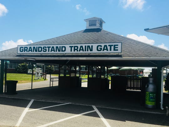 The Grandstand Train Gate is one of two gates where fans with coolers will be allowed to enter Monmouth Park.
