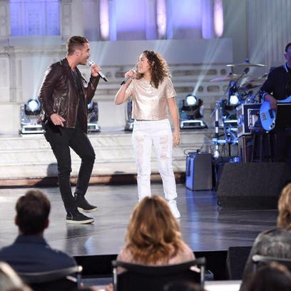 "Nick Fradiani and Gianna Isabella petrone on ""American"