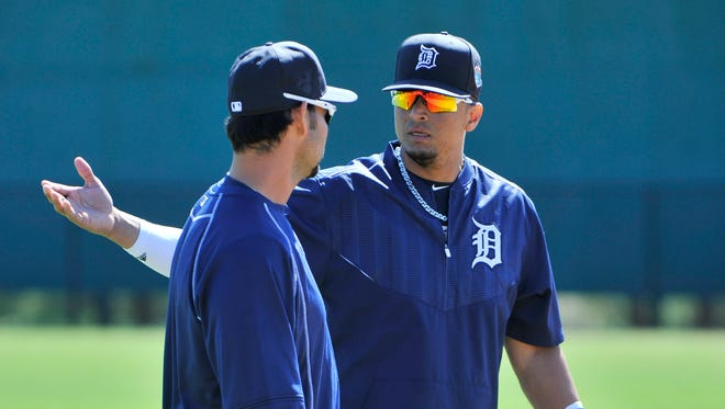 Victor Martinez played a key role in keeping the Tigers together in 2015.