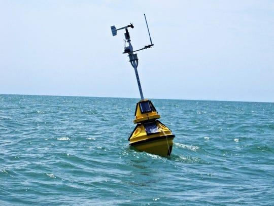 LimnoTech environmental buoys provide real-time lake