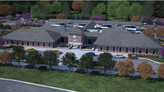 A rendering of the new hub.