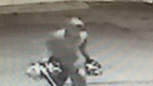 A photo of a suspect in the Berks County battery robbery