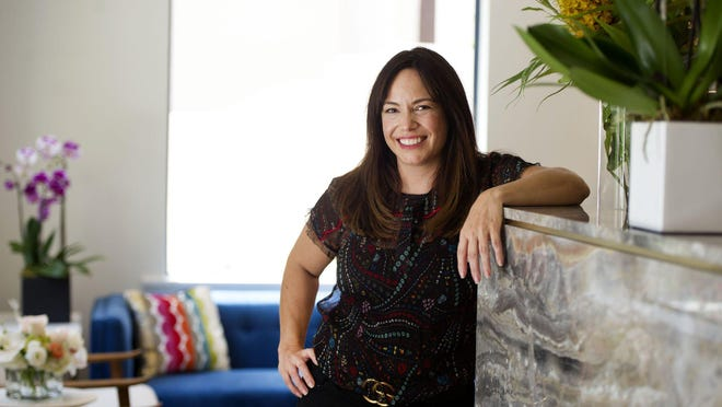 Reigan Roan-Zapatier opened Lotus Hair Studio in Palm Beach's Via Flagler on Monday.