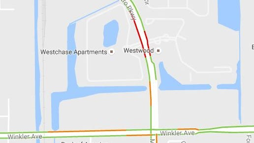A serious crash closed the intersection of Metro Parkway and Winkler Avenue for hours on Wednesday, Oct. 26, 2016.