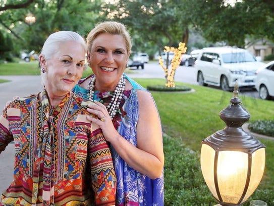 Susan Slaughter and hostess Kelly Jelensperger get