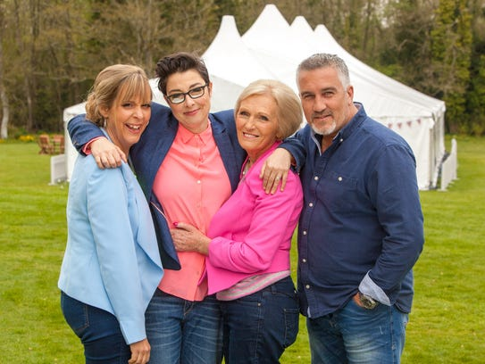 'The Great British Baking Show' hosts Mel Giedroyc,