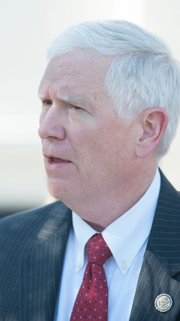 U.S. Rep. Mo Brooks, R-Huntsville, speaks during a press conference where he announced a race for U.S. Senate on Monday, May 15, 2017, in Montgomery, Ala.