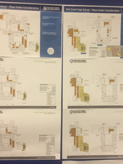 Site plans for Oak Creek High school, which includes building a performing arts center, an item that rated highly important to residents in the district in engagement sessions hosted in June.