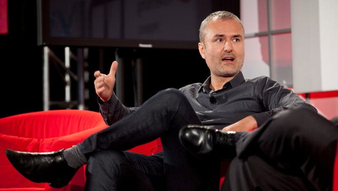 Nick Denton, founder of Gawker Media, at the Interactive Advertising Bureau MIXX 2010 conference and expo during Advertising Week in New York in 2010.