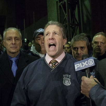 N.Y. police union chief Patrick Lynch criticizes the