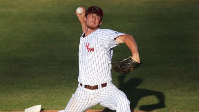 Sophomore Keegan Curtis allowed just two hits and one earned run in seven inning last Friday night in ULM's 4-1 win over Little Rock.