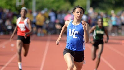 Union Catholic's Sydney McLaughlin runs in the 400-meter dash during the NJSIAA Meet of Champions on June 9, 2017 at Northern Burlington High School.