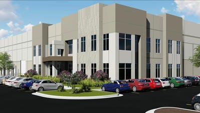 This rendering for a 622,830-square-foot building at the Smyrna Airport Business Park shows where NFI plans to add jobs.