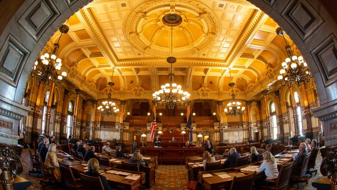 The Kansas Senate held its elections for leadership positions Monday at the Statehouse.