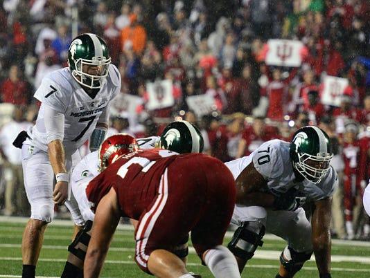 NCAA FOOTBALL: OCT 01 Michigan State at Indiana