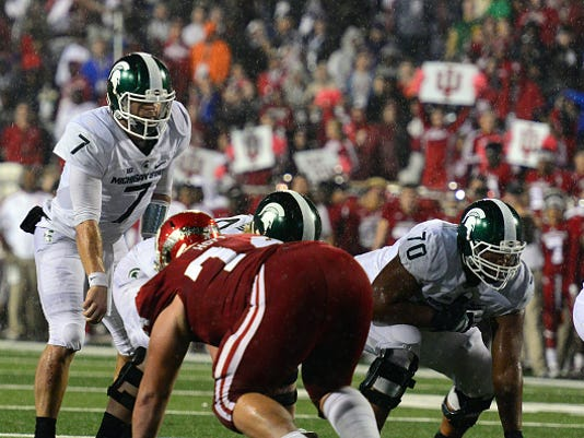 NCAA FOOTBALL: OCT 01 Michigan State at Indiana