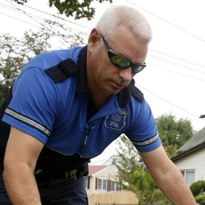 Greenburgh Police Officer Brad DiCairano is seen in