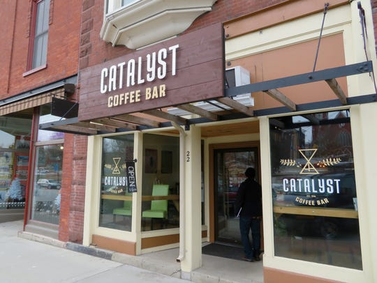 Catalyst Coffee Bar on Main Street in St. Albans City