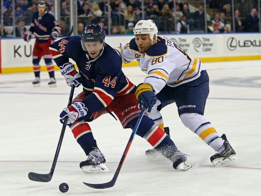 USP NHL: BUFFALO SABRES AT NEW YORK RANGERS S HKN USA NY