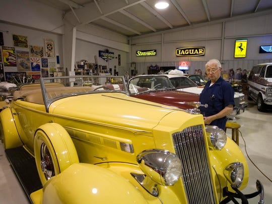 A 1936 Parkard that Mark Trimble bought for $200 when