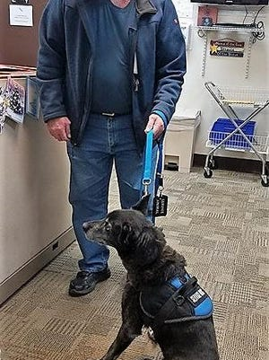 Bruce and Sheba visit the VA clinic in Port Jervis.